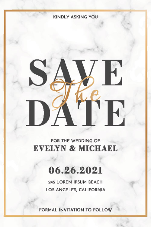 Wedding Invitations from Formally Modern Tuxedo